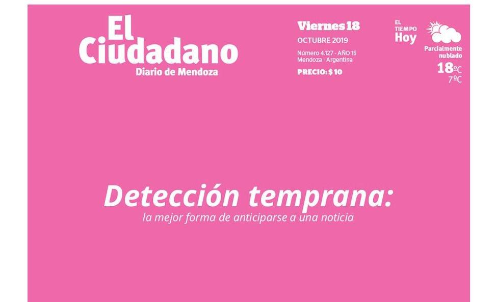 Con una tapa rosa, El Ciudadano conmemora el Día Mundial Contra el Cáncer de Mama