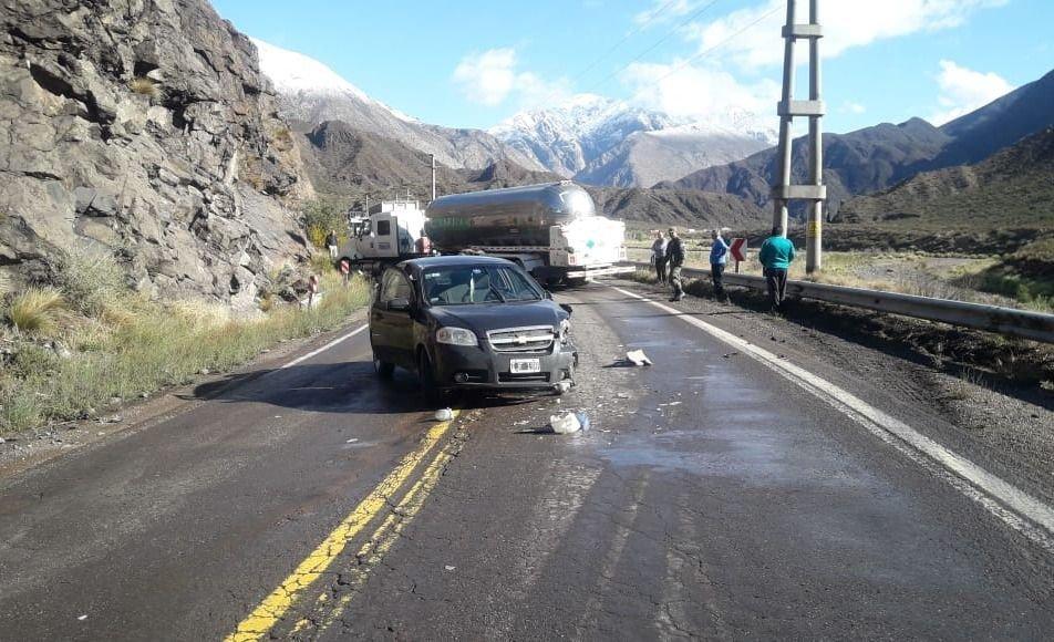 Un accidente en Potrerillos complica la circulación en Ruta 7