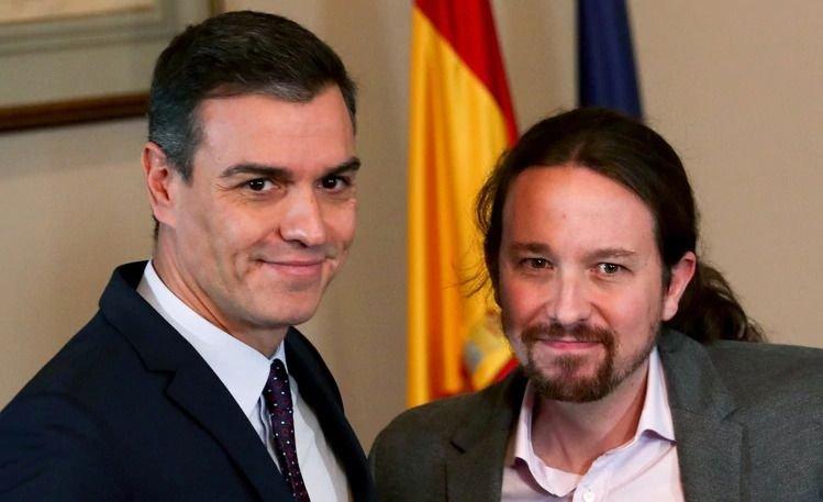Pedro Sánchez y Pablo Iglesias conforman un gobierno socialista en España