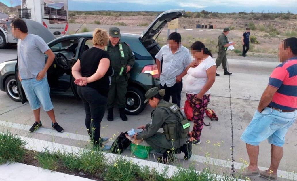 Gendarmería secuestró 5.800 dosis de marihuana en Zapata