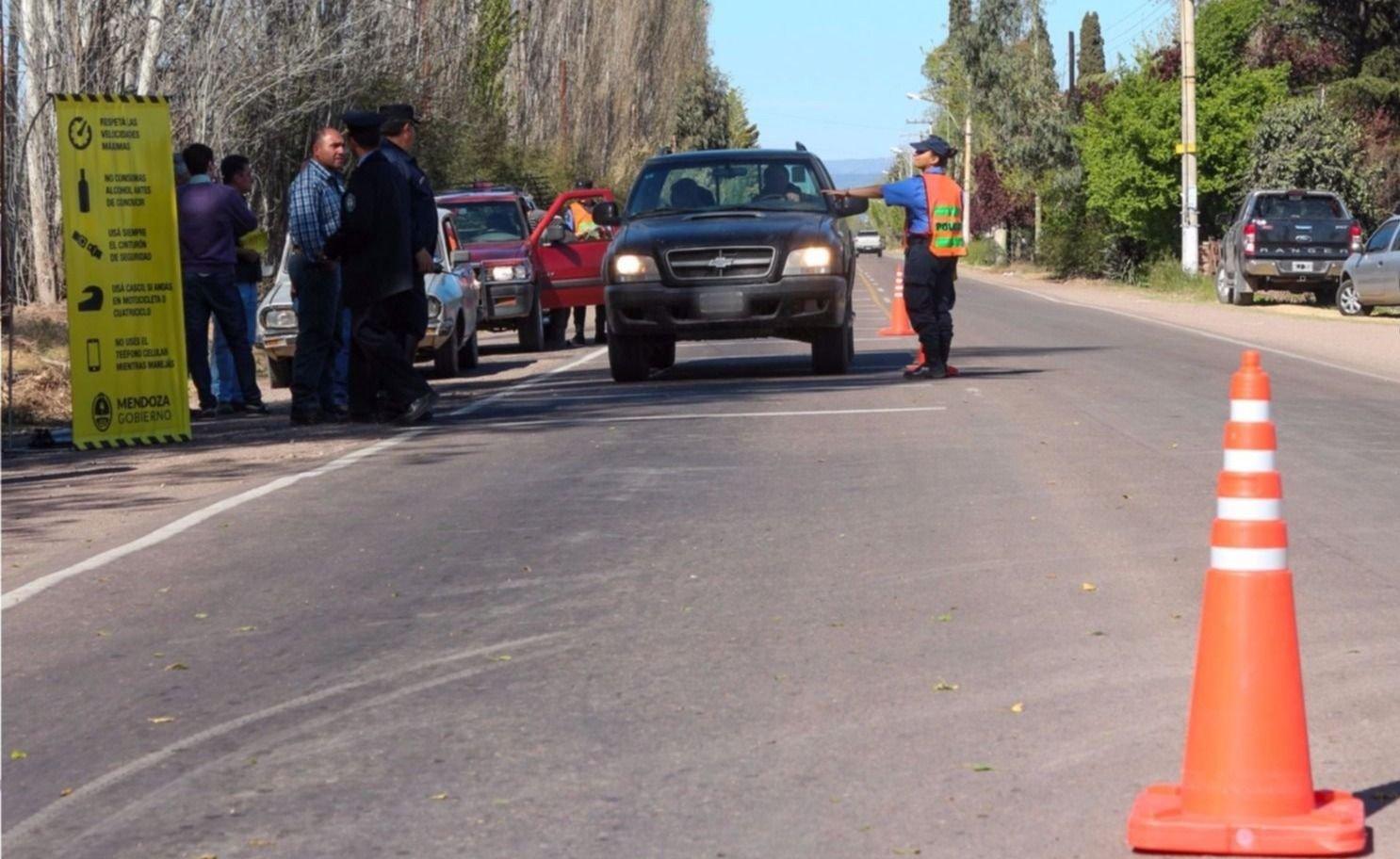 Conductores ebrios en Mendoza: hay más de 600 multados y 727 vehículos retenidos