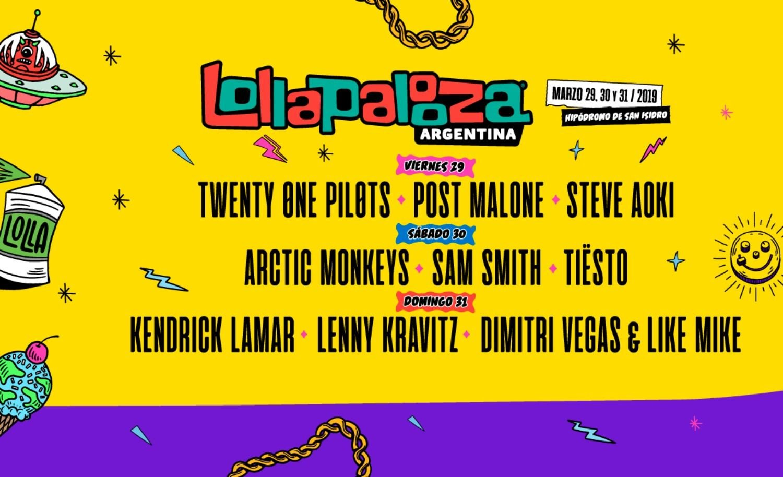 Este es el lineup por día del Lollapalooza Argentina