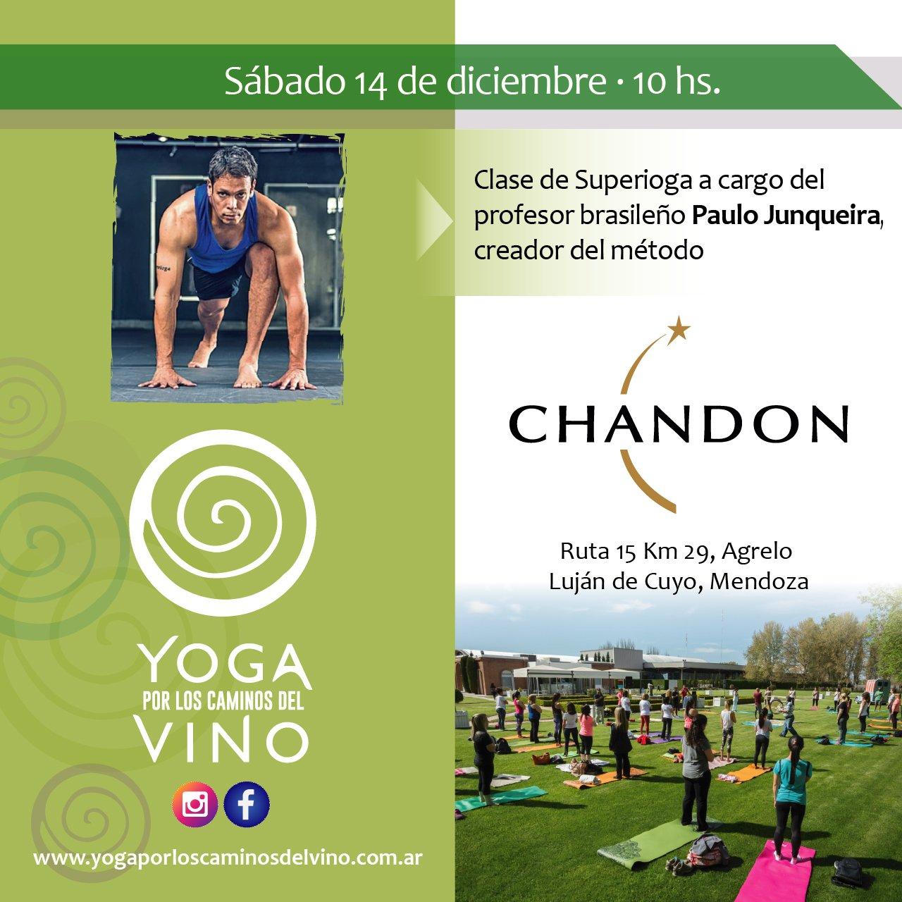 Chacras Park Yoga por los Caminos del Vino Paulo Junqueira
