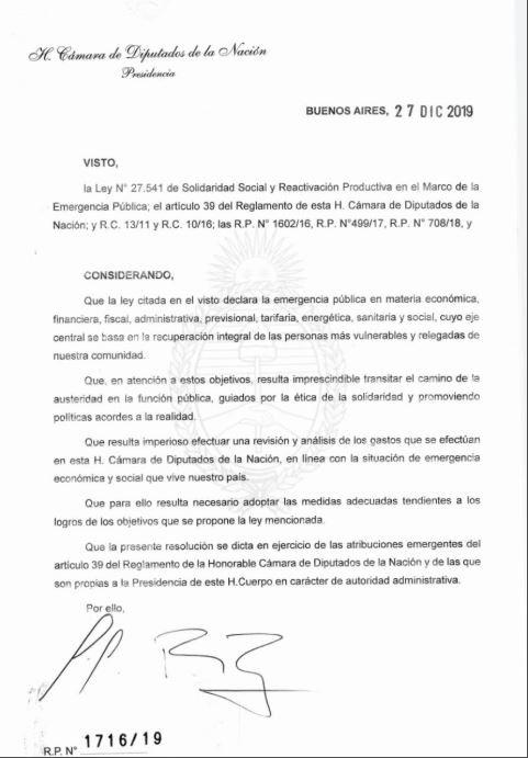Congreso Sergio Massa Cámara de Diputados aumento de sueldos Senado